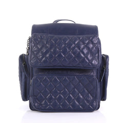 Chanel Casual Rock Airlines Backpack Quilted Calfskin Medium Blue 3852690 fafdc8b7ab