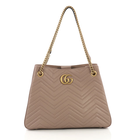 fbb955fb6af4 GG Marmont Chain Shoulder Bag Matelasse Leather