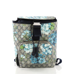 Gucci Buckle Backpack Blooms Print GG Coated Canvas Small