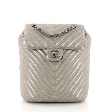 bfa9123538d0 Chanel Urban Spirit Backpack Iridescent Chevron Calfskin Small – Rebag