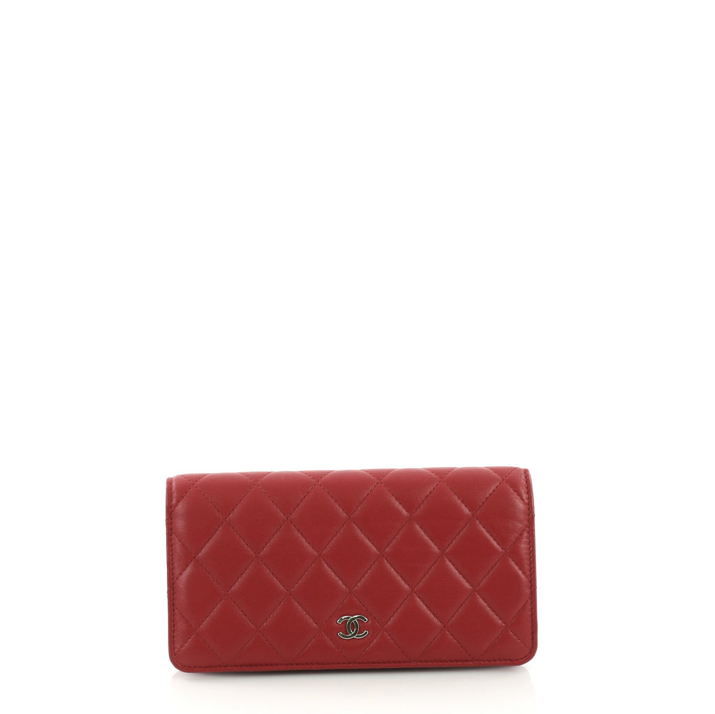 1ce13d803d0632 Chanel L-Yen Wallet Quilted Lambskin Long Red 3855765 – Rebag
