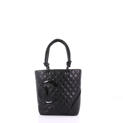 230645d171b8 Chanel Cambon Tote Quilted Leather Medium Black 385691 – Rebag