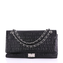 Chanel 31 Rue Cambon Double Flap Bag Embossed Leather 3858664