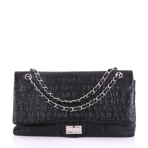 100dc097510b Chanel 31 Rue Cambon Double Flap Bag Embossed Leather Maxi 3858664 – Rebag