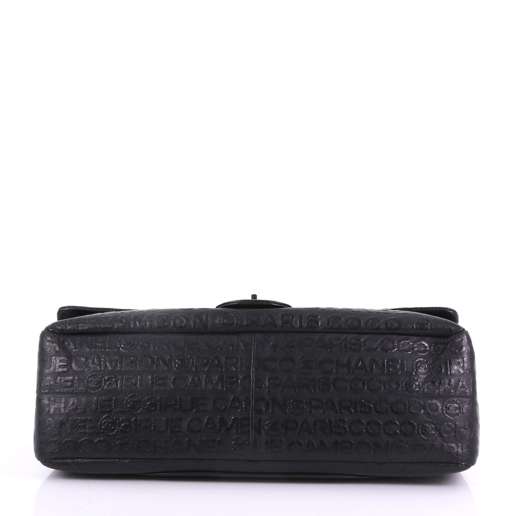 cfa2838f32a5 Chanel 31 Rue Cambon Double Flap Bag Embossed Leather Maxi 3858664 ...