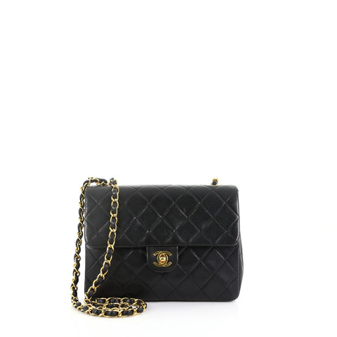 8b18e841bb09 Chanel Vintage Square Classic Flap Bag Quilted Lambskin 3859778 – Rebag