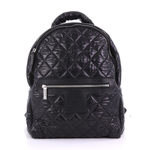 0c233c2de90178 Chanel Coco Cocoon Backpack Quilted Nylon Large Black 3863235 – Rebag