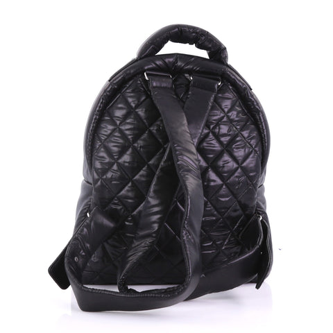 6678a4bbf82c Chanel Coco Cocoon Backpack Quilted Nylon Large Black 3863235 – Rebag