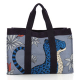 Hermes Beach Bag Printed Toile Maxi Blue 386613