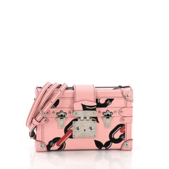 Louis Vuitton Petite Malle Handbag Limited Edition Printed Epi Leather Pink 386663