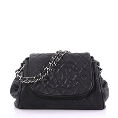 Chanel Timeless Accordion Flap Bag Quilted Caviar Black 386741