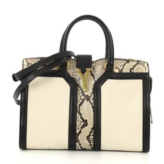 Saint Laurent Chyc Cabas Tote Leather and Python Small 386841