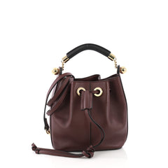 Chloe Gala Bucket Bag Leather Small Red 387012