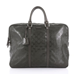 Gucci Convertible Briefcase GG Imprime Large Green 387561