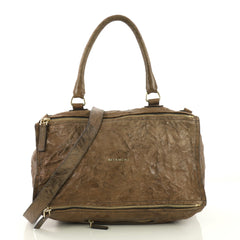 Givenchy Pandora Bag Distressed Leather Large Brown 387952