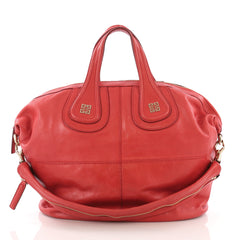 Givenchy Nightingale Satchel Leather Medium Red 3881010