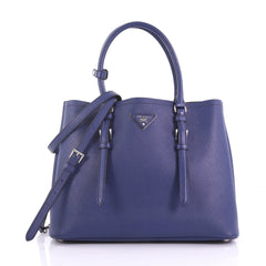 Prada Cuir Covered Strap Double Tote Saffiano Leather 3890511