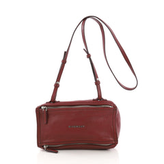 9f4beda3fc7e Givenchy Pandora Bag Leather Mini Red 389072