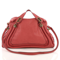 Chloe Paraty Top Handle Bag Leather Large Pink 3896911