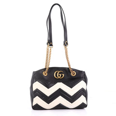 Gucci GG Marmont Chain Tote Matelasse Leather Medium 389851