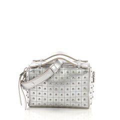 Gommino Shoulder Bag Studded Leather Micro