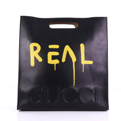 Gucci XL Tote GucciGhost Leather Large Black 390341