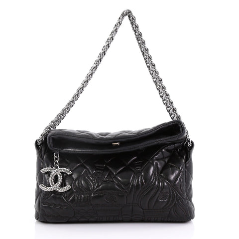 5166f498a720 Chanel Paris-Moscow Square Flap Bag Embossed Quilted 390941 – Rebag