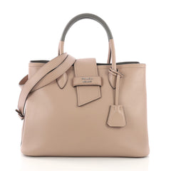 Prada Ribbon Tote City Calfskin Medium Neutral 3911113