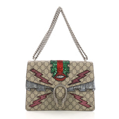 Gucci Dionysus Handbag Embellished GG Coated Canvas Medium 391114