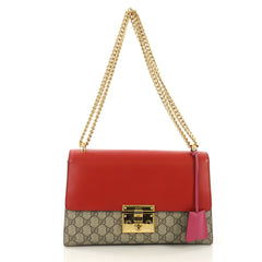 Gucci Padlock Shoulder Bag GG Coated Canvas and Leather 391256