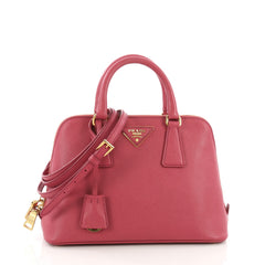 Prada Promenade Handbag Saffiano Leather Small Pink 39149103