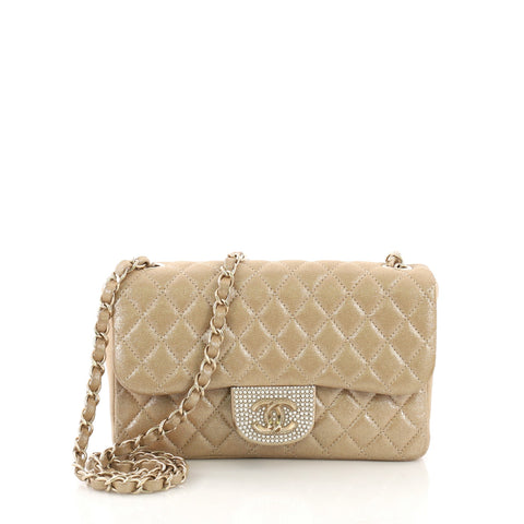 81c6d0394e0b Chanel Pearl CC Crystal Flap Bag Quilted Iridescent Fabric 3914922 – Rebag