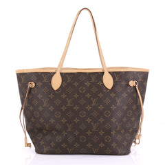Louis Vuitton Neverfull Tote Monogram Canvas MM Brown 3914954