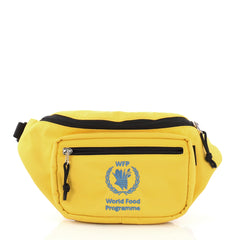 Balenciaga World Food Programme Waist Bag Embroidered Nylon 3914962