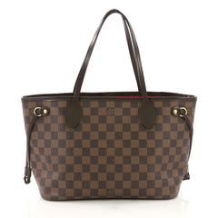 Louis Vuitton Neverfull Tote Damier PM Brown 391497