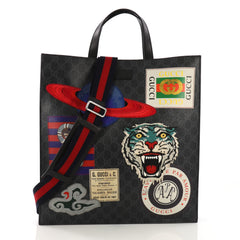 Gucci Courrier Convertible Soft Open Tote GG Coated Canvas 3914993