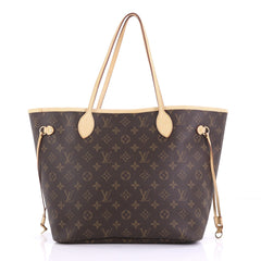 Louis Vuitton Neverfull Tote Monogram Canvas MM Brown 391499