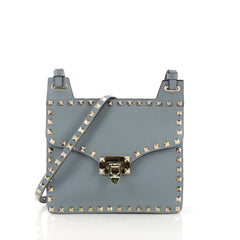 Valentino Rockstud Flip Lock Crossbody Bag Leather Small 391572