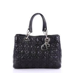 Christian Dior Soft Shopping Tote Cannage Quilt Lambskin 392081