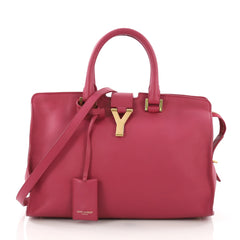 Saint Laurent Classic Y Cabas Leather Small Pink 392131
