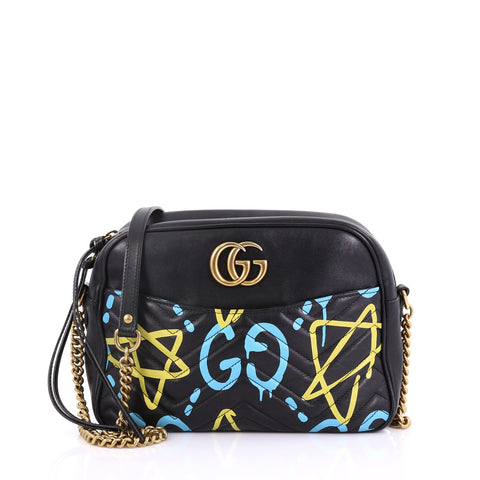 373eaa02060 Gucci GG Marmont Shoulder Bag GucciGhost Matelasse Leather 392242 – Rebag