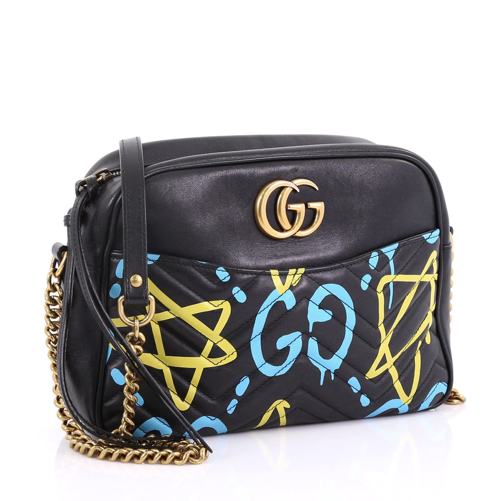 fe600b975a3094 Gucci GG Marmont Shoulder Bag GucciGhost Matelasse Leather 392242 ...