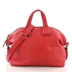 Givenchy Nightingale Satchel Waxed Leather Medium Red 392302