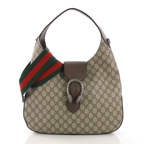 4c0c76c5b4d1 Gucci Dionysus Hobo GG Coated Canvas Medium Brown 3933001 – Rebag
