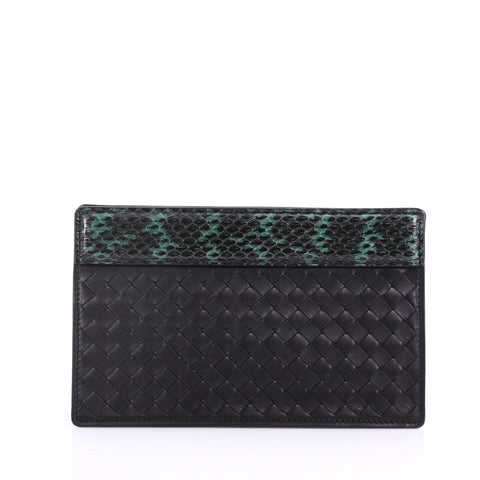 24d319b07d31 Bottega Veneta Clutch Intrecciato Nappa with Python Detail Black – Rebag