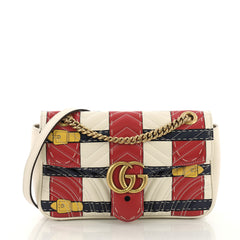8718db7222e4 Gucci GG Marmont Flap Bag Trompe L Oeil Matelasse Leather 393596