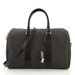 Saint Laurent Classic Duffle Bag Monogram Canvas 12 Black 393961