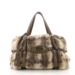 Gucci Limited Edition 85th Anniversary Satchel Rabbit Fur 394021