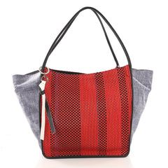 Proenza Schouler XL Tote Woven Canvas with Leather Red 394041