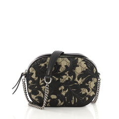 Gucci Chain Crossbody Bag Arabesque GG Coated Canvas Mini 3942601